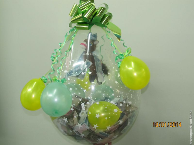 Подарок в шарике томск 6